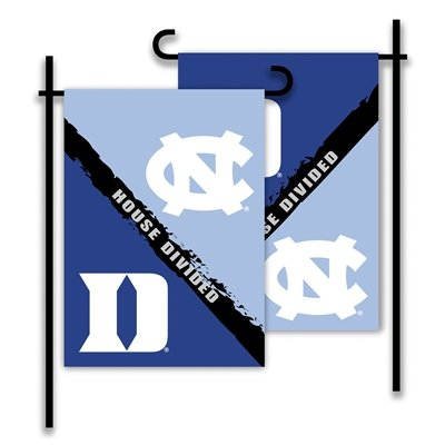 NCAA N. Carolina-Duke 2-Sided Garden Flag-Rivalry House Divided Duke House Divided