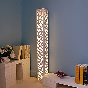 Creative Floor Lamp Home Design Minimalist Modern Bedroom Living Room Night  Light Hollow Out Carved Shade: Amazon.co.uk: Lighting