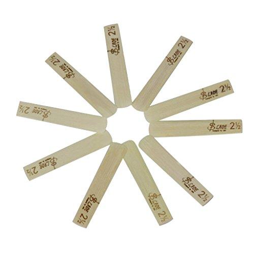 Homyl 10 Pcs Clarinete Reed Caja para Cañas 2,5 con Cierre Magnético Color Madera