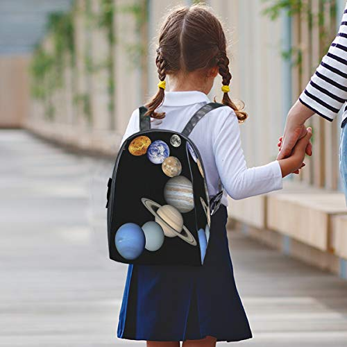 Kids school backpack,Planets Of The Solar System bag Waterproof Lightweight bookbags for Primary Students leisure picnic travel