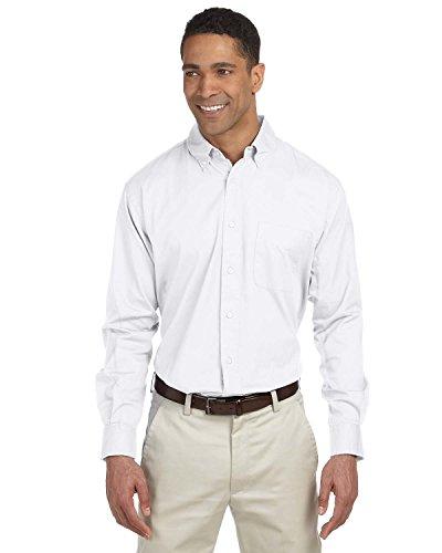 Chestnut Hill Mens 32 Singles Twill Oxford Shirt Ch500 (2X-Large/White)