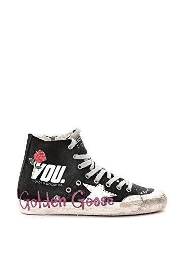 Golden Goose Hi Top Sneakers Donna G30WS591A71 Cotone Nero