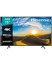 "Hisense 75"" A6G 4K UHD Android TV con Control de Voz, HDR Dolby Vision (75A6G, 2021)"
