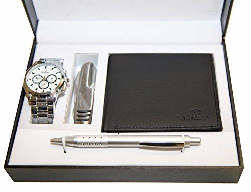 Coffret Cadeaux Homme Stylo-Montre-Portefeuille Porte Carte Billets-Couteau  multifonctions 39b790961ab