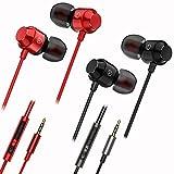 2 Packs Magnetic Earbud Headphones Volume Control