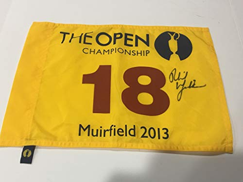 PHIL MICKELSON SIGNED 2013 BRITISH OPEN PIN FLAG MUIRFIELD CHAMPION JSA LOA