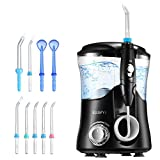 ELLESYE Water Flosser Oral Irrigator 600ml with 9 Multifunctional Jet Tips, 3 Min Timer, Dental Water Pick for Braces Care & Teeth Cleaning, Quiet Design