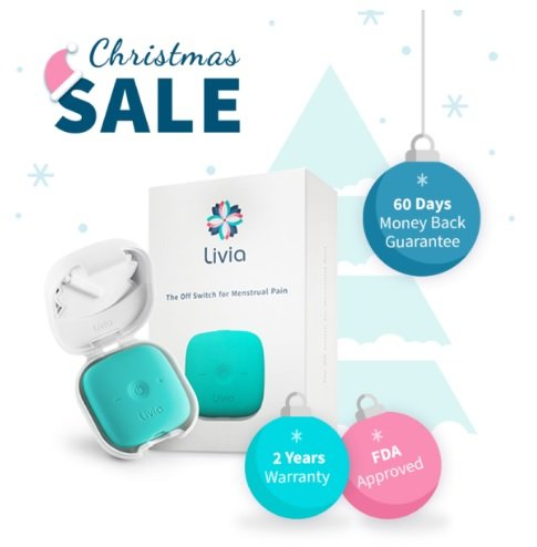 Livia Menstrual Pain Relief Device (Blue-Green) by Livia
