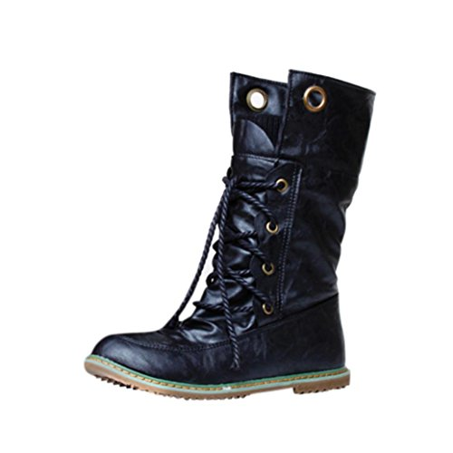 Women Winter Fashion Martin Bandage Boots Female Ankle Boots Woman Casual Shoes Black eEd6Ct