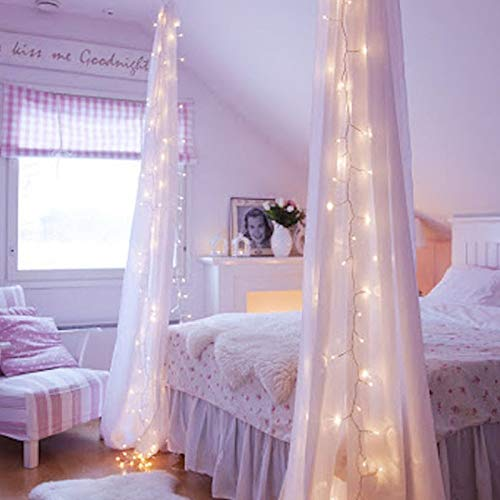 GreenClick Window Curtain String Lights, 32.8ft 480 Leds Fairy String Lights Wedding Party Garden Bedroom Outdoor Indoor Decorations,Waterproof, 8 Lighting Modes, UL Listed Adapter (Warm White) by GreenClick (Image #2)