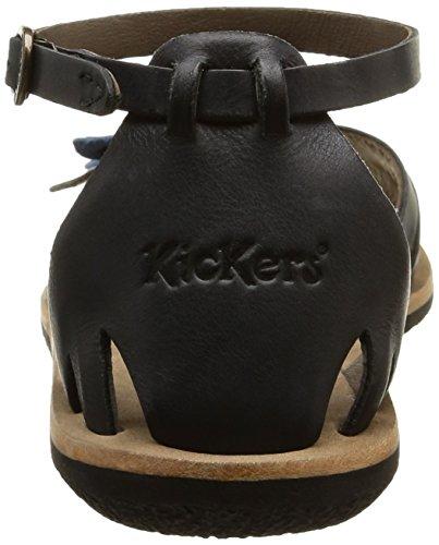Kickers Spartwin - Sandalias de tobillo Mujer Negro - Schwarz (8)