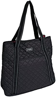 a79c22c2d4c Amazon.com: Fit & Fresh JAXX Black Quilted YOGA BAG, Stylish Fitpak Meal  Prep Set with Portion Control Containers, Ice Pack and Vitamin Case, Black:  Kitchen ...