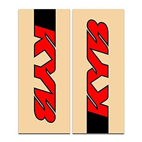 Fit All Dirt Bikes Enjoy MFG Upper Fork Decal Stickers WP SUSPENSION KYB PRO CIRCUIT WP SUSPENSION - BLACK//WHITE//RED SHOWA