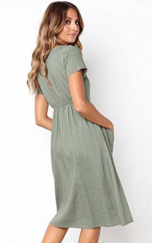 Sexy Manches Col V Dos Nu Dentelle Épissage Mousseline Mini-robe De Vert De Femmes Angashion