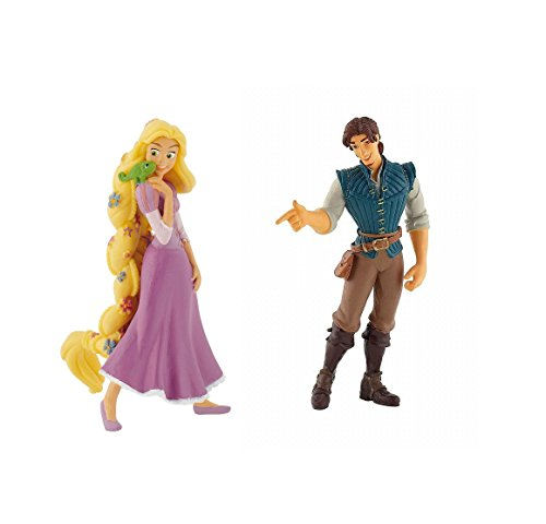 Disneys Rapunzel and Flynn Rider Birthday Party Cake Toppers ()