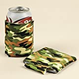 Foam Camouflage Can Insulators/koozie (12 Pack)