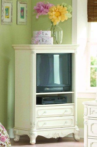 Homelegance Cinderella White TV Armoire for Girls