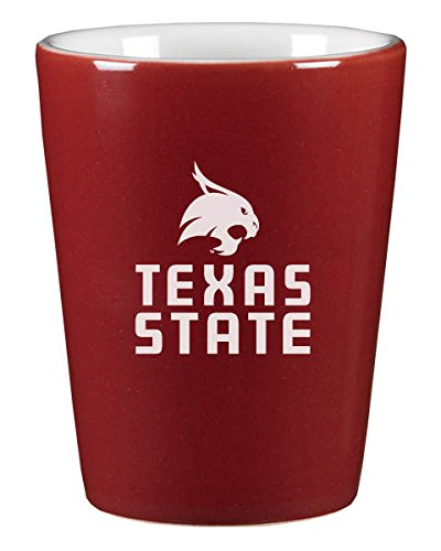 Texas State University - 1.75oz Ceramic Shot Glass - Burgundy