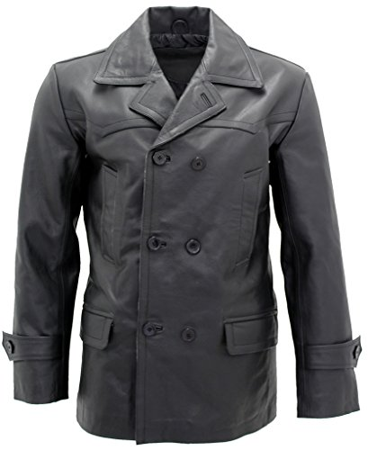 Leather Tailored Coat - 4