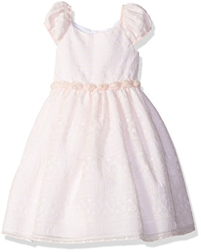 Laura Ashley London Toddler Girls' Puff Sleeve Party Dress, Soft Pink, 3T -