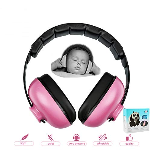 Baby Earmuffs Infant Hearing Protection Noise Cancelling Headphones for 3 Months to 2 Years Babies (Pink)