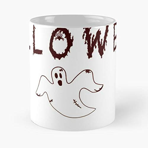 Happy Halloween Is Coming October Spooktober Gift Idea Witch Ghost Spirit Spider Pumpkin Scary Design Disguise - 11 Oz Coffee Mugs Unique Ceramic Novelty Cup, The Best Gift For Halloween.]()