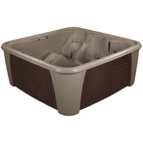 Essential Hot Tubs 24 Jets Rainier Hot Tub, Cobblestone/Espresso
