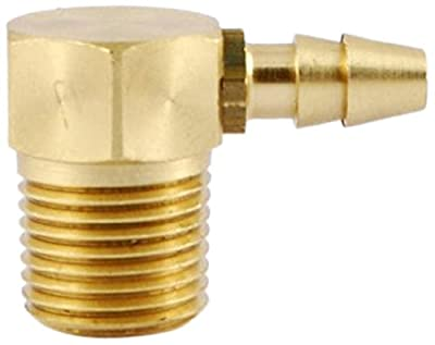 """MettleAir ID 1/8""""NPT Male Double Barb Hose/Tubing Fitting Elbow L Connector"""