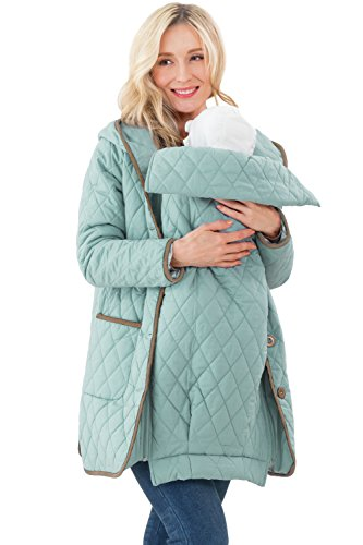 Sweet Mommy Quilting Maternity and Babywearing Coat Blue, M