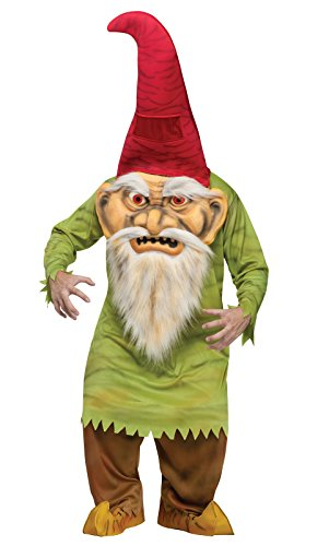 Fun World Unisex Big Head Evil Gnome Adult Costume, Multi, Standard]()