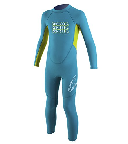 - O'Neill Wetsuits 2 mm Reactor Toddler Full Wetsuit, Turquoise/Lime, Size 6