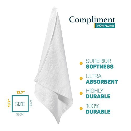 Kitchen Towel Set of 10 Pc (13.7x13.7 inches) 100% Premium Cotton – Kitchen Essential – Terry Towel Cloths for Dishes – Spa and Bath Face Towel – Super Absorbent – Machine Washable