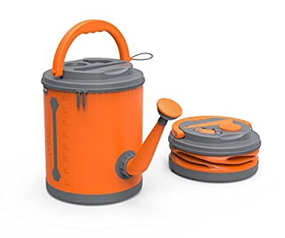 COLOURWAVE Premium Collapsible Watering Can, 2.4-Gallon, Juicy Orange