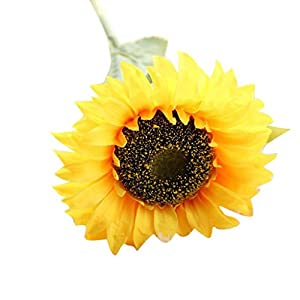 Howstar Fake Flowers, Artificial Fake Flowers Sunflower Floral Wedding Bouquet Party Home Decor 18