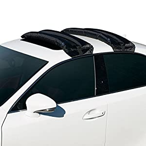 Rakapak Inflatable Roof Racks / Snowboard Rack / Ski Rack / Travel / Luggage Carrier / Universal / Hand Pump / Car Roof Rack / 180 LB Capacity