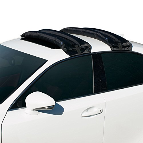 Rakapak Inflatable Roof Racks / Snowboard Rack / Ski Rack / Travel / Luggage Carrier / Universal / Hand Pump / Car Roof Rack / 180 LB Capacity