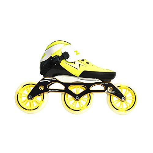 メディックれる雷雨ailj スピードスケートシューズ90MM-110MM調整可能なインラインスケート、ストレートスケートシューズ(3色) (色 : Red, サイズ さいず : EU 45/US 12/UK 11/JP 27.5cm)
