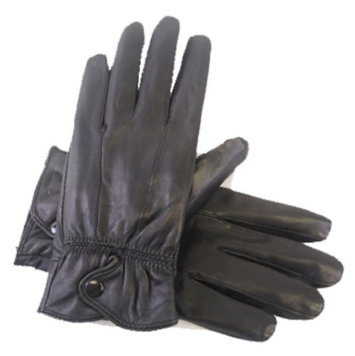 S//M Brown laylawson Ladies Womens Genuine Soft Winter Driving Leather Gloves with Fleece Lining and Bow