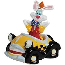 Westland Giftware Magnetic Ceramic Salt and Pepper Shaker Set, 4-Inch, Disney Roger Rabbit in Car, Set of 2