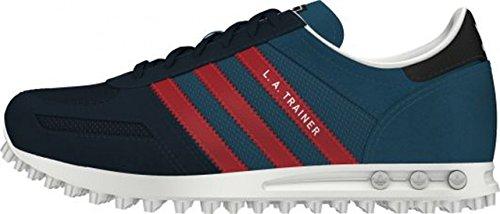 Adidas - Adidas La Trainer K Zapatos Deportivos Niño Azul Cuero Tejido M17124 - Azul, 30