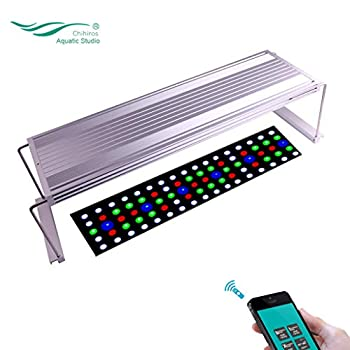 Image of Chihiros WRGB LED Light Full Spectrum App Dimmable RGB Aquatic Plant Light for 11.8-41.5inch Tank Pet Supplies