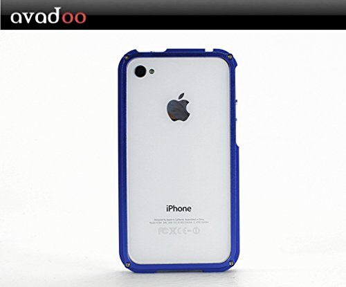 Blade Case für iPhone 4 - Aluminium / Blau iPhone 4 und 4S !!! - vom Avadoo-Shop