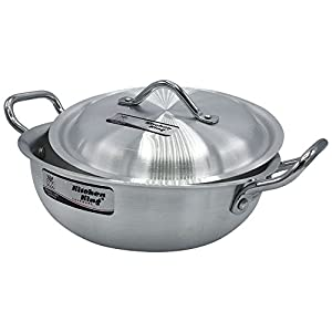 23cm to 33cm Aluminium Wok Stir Fry Casserole Deep Fryer Karahi Saucepan Cooking Kitchen King (33cm - 13inch - Capacity… 2