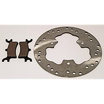 Polaris 500 Scrambler 4X4 Brake Rotor and Brake Pads Rear Brakes fits 1998-2001