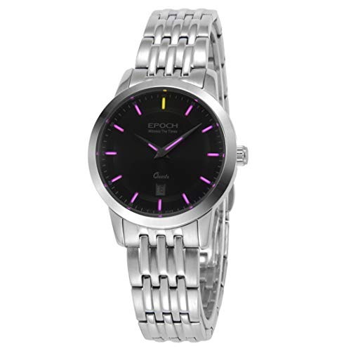 EPOCH 6023L 50m Water Resistant T25 Tritium Luminous Vogue Business Dress Lady Women Quartz Watch Wristwatch (P7)