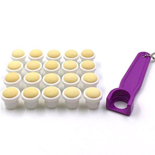 Bingo Dauber Plain Tips 20-pk and EZ Lift Dauber Tip Removal Tool - Purple