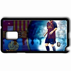 Personalized Samsung Note 4 Cell phone Case/Cover Skin Amazing magnificence lionel messi Black