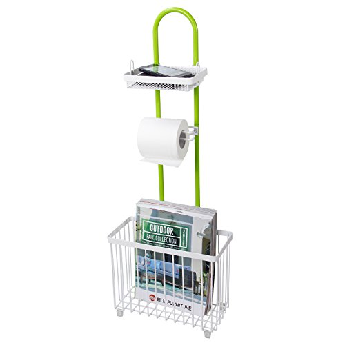 Lifewit Toilet Roll Paper Holder Caddy With Magazine Rack Free Import It All