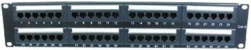 World of Data - 48 puerto 2u rack montable cat6 patch panel - soporte t568 a & b cableado e instalación fácil - dual idc conectador puede aceptar 22-26 awg sólidos y trenzados utp cables - compati