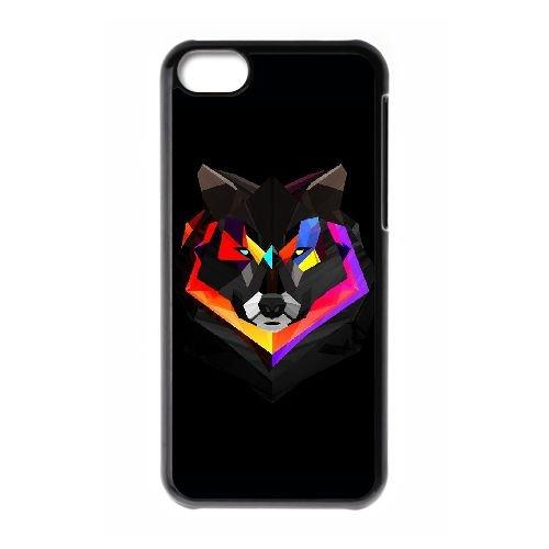 Loup Polygone Art IX98XG2 coque iPhone Téléphone cellulaire 5c cas coque Y2TS3L5FM
